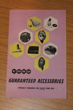 Ford Guranteed Accessories Sales Folder 1950's Consul Zephyr Zodiac