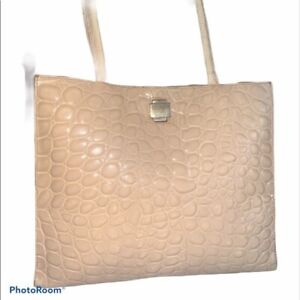 Furla made in Italy beiges Reptile bag w/ dust bag