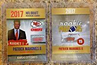 2017 Patrick Mahomes Gold Platinum Limited Draft Card Kansas City Chiefs. MVP!