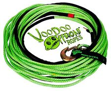 Voodoo Offroad 3/8 X 80 GREEN WINCH LINE 20,800lb Break Strength 2 Year Warranty