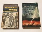 Civil War Lot of Two Books by Bruce Catton Grant Takes Command / Terrible Sword  for sale