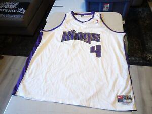 VINTAGE 90's Nike Sacramento Kings Chris Webber 4 Jersey MENS SZ 5XL - Length 2