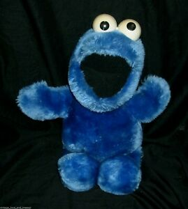 """14"""" VINTAGE BLUE COOKIE MONSTER APPLAUSE MUPPETS 14085 STUFFED ANIMAL PLUSH TOY"""