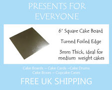 """25 X 6"""" Inch Square Silver Cake Board 3mm Double Thick"""