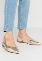 Peter Kaiser Snakeskin Slingback Flat Leather Sandals Gold UK 6 UK 7 rrp £135