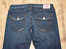 "True Religion Joey costura torcida FLARE socorro de baja altura Indigo Jeans W29"" L34"""