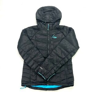 OUTDOOR RESEARCH Sonata women's hooded down jacket NEW size Large black rio full