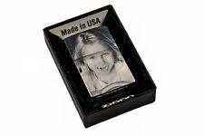 ZIPPO Feuerzeug graviert regular chrom silber matt mit Wunsch Gravur Fotogravur