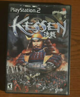 Kessen TESTED RTS PS2 (Sony PlayStation 2, 2000) FREE SHIPPINGblack label