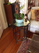 Pair of Chinoiserie Side Table Aged Mirror Top