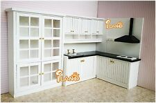 112 dollhouse kitchen dining room furniture set 3pcs 3cabinet