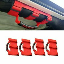4x Red Grab Handles Width Ultimate Roll Bar Grab Handle For Jeep Wrangler 87-19