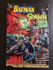 Batman Spawn signed by Chuck Dixon and Spawn Batman