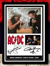 More details for (560) ac/dc brian johnson & angus young signed a4 photo/framed/unframed pp @@@@@