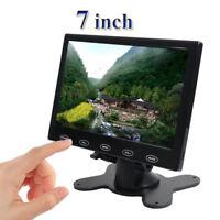 HD 7 Inch Ultra Thin TFT-LCD HD Monitor Audio Video HDMI VGA w/Speaker + Adpater