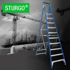 STURGO Fibreglass 10 Step 3000mmH Platform Ladder Sydney