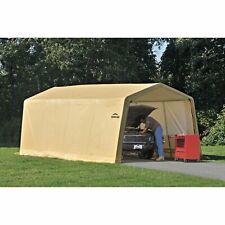 Shelterlogic Auto Shelter 10' x 20 x8' Peak Style Instant Garage, Sandstone