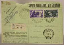 STORIA POSTALE REGNO 2,55 L + 0,50 SU FRAMMENTO (10° MARCIA ROMA) 1933 #SP366