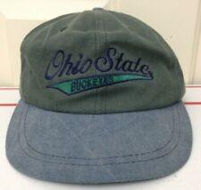 RARE Vintage 80s 90s Ohio State University Buckeyes Hat Cap Strapback Green Blue