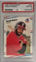 1988 Fleer Glossy #391 Harold Baines PSA GEM MT 10 Chicago White Sox