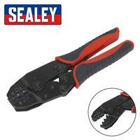 Sealey Ratchet Terminal Crimping Plier Crimper Electricians Tool Insulated Crimp