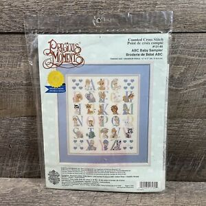 Precious Moments 1998 ABC Baby Sampler Counted Cross Stitch 15x17 Janlynn