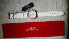 Relojes de pulsera Quartz de plata de cuero