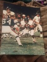 GALE SAYERS SIGNED 8X10 PHOTO CHICAGO BEARS RB HOF WALTER W/COA+PROOF RARE WOW