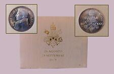 26 AGOSTO 28 SETTEMBRE 1978 SILVER COIN (1000 LIRE) UNC.