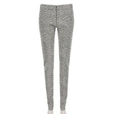 Stella McCartney gris pizarra Leopardo Jacquard Ajustados Pantalones Pantalones IT42 UK10