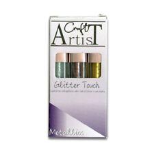Crafts Too CRAFT ARTIST GLITTER TOUCH Liquid Glitter Applicator METALLICS CAT005