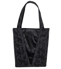 Sinister Black Rose Bag Gothic Velvet Lace Hand