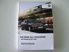 BMW Betriebsanleitung  Deutschland 3er Reihe  F30 Limousine MJ 2012 01402901062