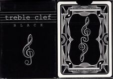 Treble Clef Black Playing Cards Poker Size Deck JJPC Custom UnLimited Edition