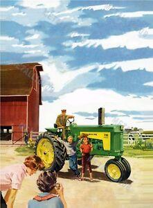 John Deere 730 Tractor Advertising Poster (A3)