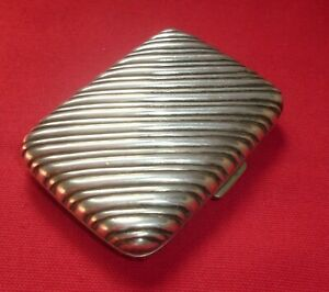 Antique Solid Silver Cigarette Case by William Hair Haseler, Birmingham 1894