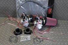 NEW 2 x 35mm carburetors carbs & throttle cable Banshee + pod filters + intakes