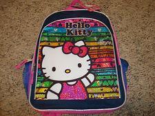 "HELLO KITTY Backpack School Bag  Large 16"" NWTS $29.99 CUTE GIFT"
