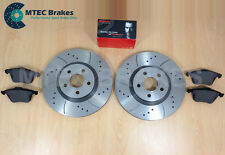 Ford Focus ST225 2.5 MTEC Perforado Ranurado Discos De Freno Delanteros & Brembo
