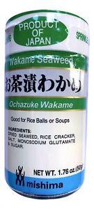 Mishima Ochazuke Wakame Furikake (Seaweed & Rice Cracker Mix (Pack of 3))