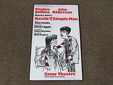 RATTLE of a SIMPLE Man inc Pauline COLLINS & John ALDERTON Savoy Theatre Poster