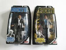 NEW 2007 Rocky Balboa Jimmy Lennon & Brent Musberger Jakks Pacific Figures MOC