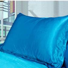 NEW Solid Queen/Standard Silk~y Satin Pillow Case Bedding Pillowcase Smooth Home