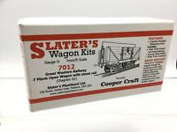 Slaters 7012 O Gauge GWR 7 Plank Open Wagon w Sheet Rail Kit