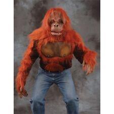 Orangutan Hand Covers Gloves Latex and Faux Fur Fancy Dress Adult