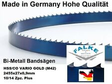 Bandsägeblatt Bimetall Gold M42 2455 mm x 27  x 0,9 mm  10/14 Bandsägeblätter