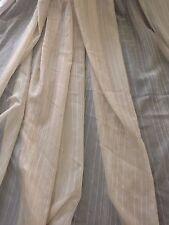 1m x 300 cm Drop LINEN colour URBANE Sheer Curtain Voile CLEARANCE Piece
