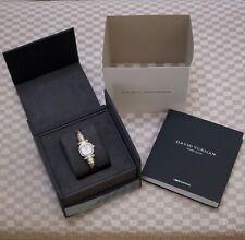 NEW DAVID YURMAN WOMEN'S STERLING SILVER CABLE WRISTWATCH (DIAMOND BEZEL & DIAL)