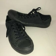 Converse All Star Men's 12 All Black Mono Canvas Lace Up Low Sneaker