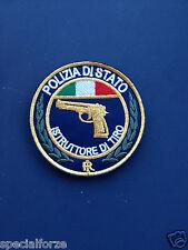 PATCH POLIZIA ISTRUTTORE DI TIRO DIAMETRO 9